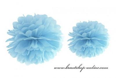 Pom Poms hellblau, 25 cm Durchmesser
