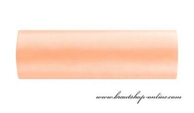 Satinstoff in Lachs-Aprikose, 15 cm Breite