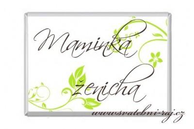 Hochzeit Namensschild