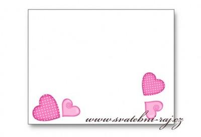 Namenskarte mit Herzen
