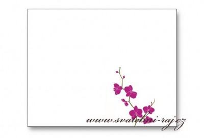 Namenskarte Orchidee
