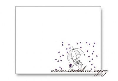 Namensschild violett