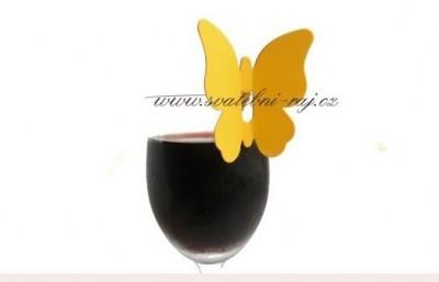 Namensschild Weinglas