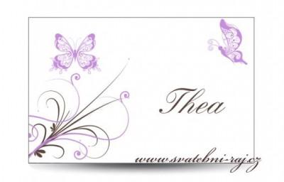 Namensschilder Schmetterlingen
