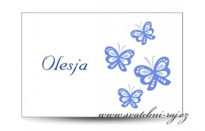 Namensschild Schmetterlingen