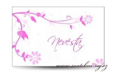 Namensschild Blumen