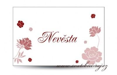 Namensschilder Rosen