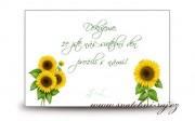 Detail anzeigen - Hochzeitskarte mit dem Bedanken