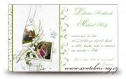 Schöne Hochzeitsanzeige
