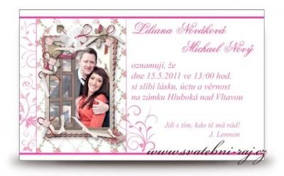 Hochzeitsanzeige mit Foto