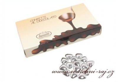 Schokolade Herzen silber