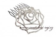 Detail anzeigen - Schöner Haarkamm mit Rose