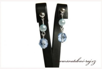 Ohrringe blaue Perlen