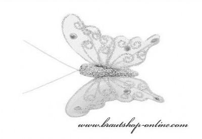 Schmetterling silber