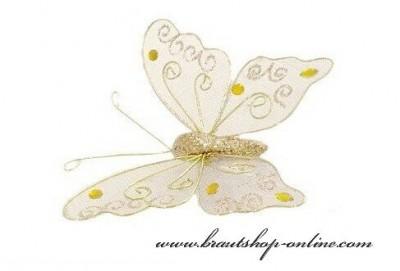 Schmetterling gold Hochzeit