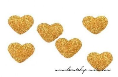 Herzen gold zur Dekoration