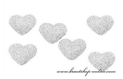Herzen silber zur Dekoration