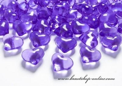 Textilherzen lila
