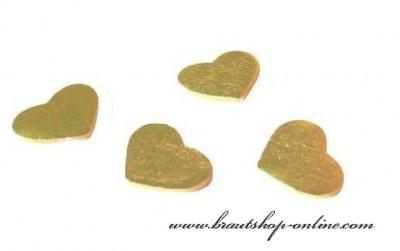Goldene Herzen zur Dekoration
