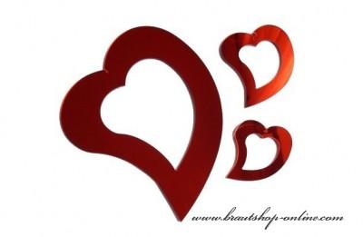Metalische Herzen