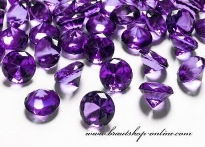 Tafeldekoration violett