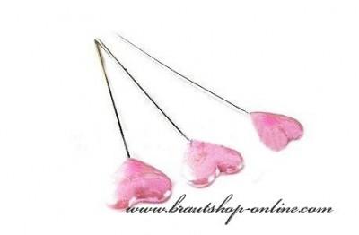 Stecknadel Herz rosa