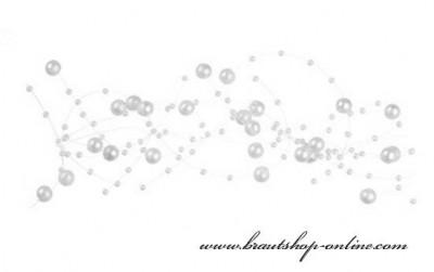 Weisse Perlen Dekoration
