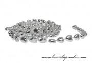 Detail anzeigen - Silberne Girlande, kleine Herzen