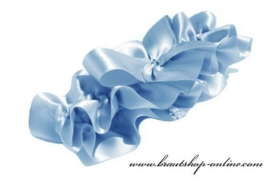 Strumpfband Braut blau