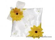 Detail anzeigen - Schönes Ringkissen mit den Sonnenblumen