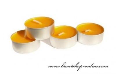 Teekerzen orange