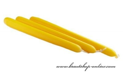 Spitzkerze gelb