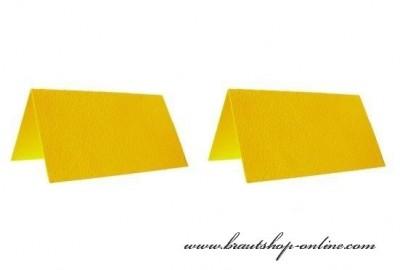 Gelbe Namensschilde