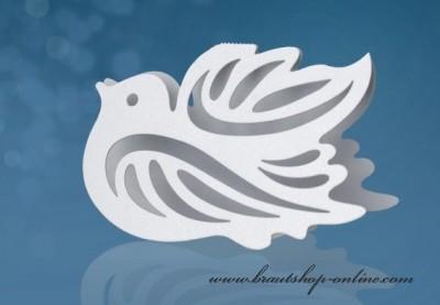 Namensschild Taube