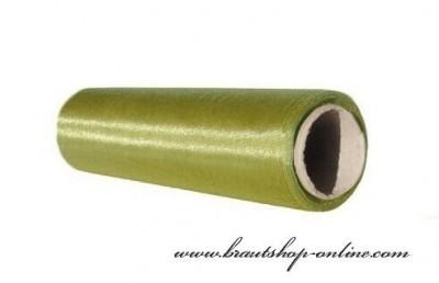 Organzastoff Olive