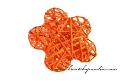 Rattanblumen orange