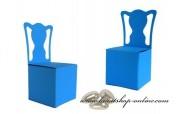 Schachtel Stuhl in blau