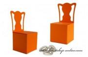 Schachtel Stuhl in orange