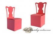 Schachtel Stuhl in rosa