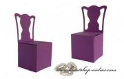 Schachtel Stuhl in dunkellila