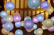 LED Licht in die Laternen