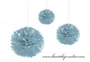 Pom Poms hellblau, 20 cm Durchmesser