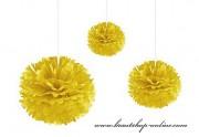 Pom Poms gelb, 30 cm Durchmesser