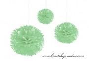 Pom Poms mint-green, 20 cm Durchmesser