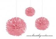 Pom Poms rosa, 45 cm Durchmesser