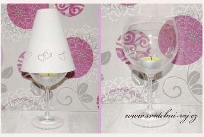 Schirm Weinglas
