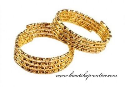Goldene Trauringe
