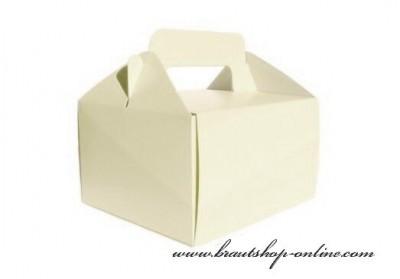 Schachtel für Süssigkeiten in creme