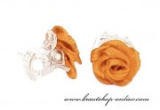 Detail anzeigen - Schöne Satinröschen in orange