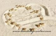 Detail anzeigen - Creme Perlen auf Perlonfaden